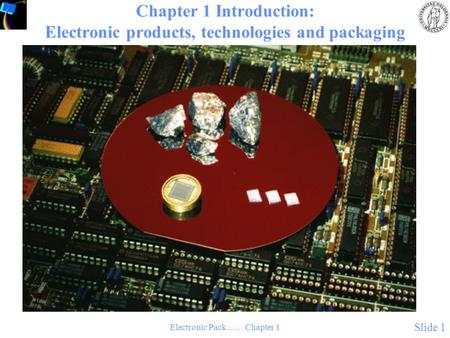 Electronic Pack….. Chapter 1 Slide 1 Chapter 1 Introduction: Electronic products, technologies and packaging.