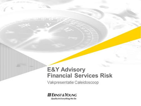 E&Y Advisory Financial Services Risk Vakpresentatie Caleidoscoop TexPoint fonts used in EMF. Read the TexPoint manual before you delete this box.: AA.