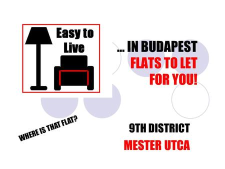 … IN BUDAPEST FLATS TO LET FOR YOU! 9TH DISTRICT MESTER UTCA WHERE IS THAT FLAT?