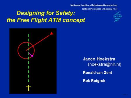 Nationaal Lucht- en Ruimtevaartlaboratorium National Aerospace Laboratory NLR CXXX-1A Designing for Safety: the Free Flight ATM concept Jacco Hoekstra.