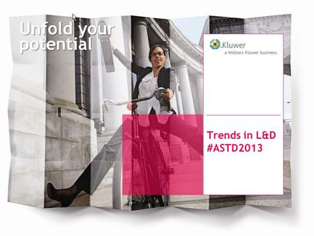 Unfold your potential Trends in L&D #ASTD2013. Content, Community & Global Perspective Het ASTD-congres.