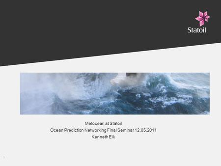 Ocean Prediction Networking Final Seminar