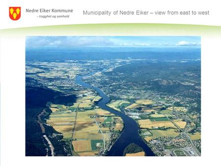 Municipality of Nedre Eiker – view from east to west.