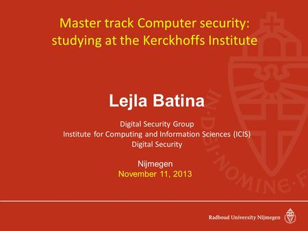 master thesis in information security This is a thesis on information security management in web-based product design and realization master's thesis.