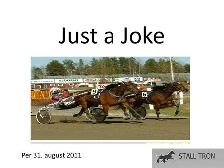 Just a Joke Per 31. august 2011. Härlingstorp Stutteri, juli 2009.