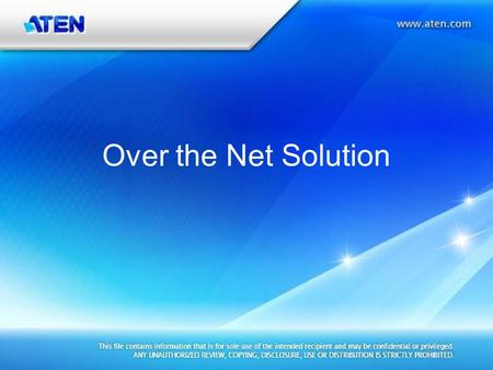 Over the Net Solution. KVM Over the Net KN4140v Front Rear KN4140v 4 (IP users) x 40 (Computers)