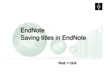 EndNote Saving titles in EndNote Next = click. To save titles from the Digital Library in EndNote …