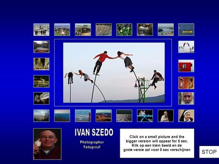 Ivan Szedo's third photo exhibition opens at 05.Oct.2012 in the Budapest Art Centre. Pictures that are exhibited are on :