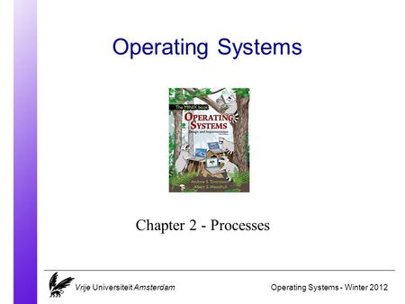 Operating Systems Operating Systems - Winter 2012 Chapter 2 - Processes Vrije Universiteit Amsterdam.