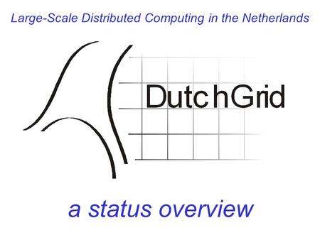 Large-Scale Distributed Computing in the Netherlands a status overview.