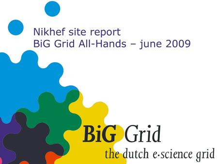 Nikhef site report BiG Grid All-Hands – june 2009.
