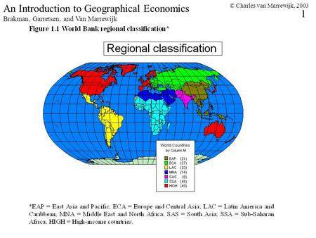 © Charles van Marrewijk, 2003 1 An Introduction to Geographical Economics Brakman, Garretsen, and Van Marrewijk.