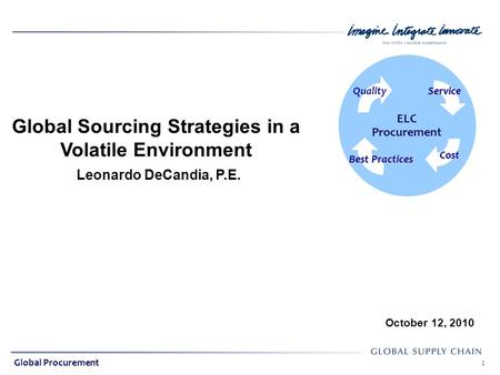 Global Sourcing Strategies in a Volatile Environment