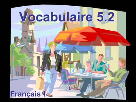 Vocabulaire 5.2 Français I. Excusez-moi! Excuse me!