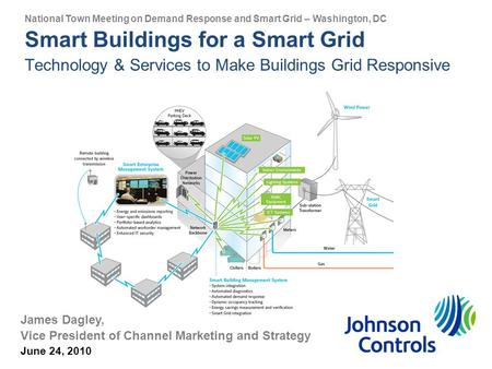 Smart Buildings for a Smart Grid Technology & Services to Make Buildings Grid Responsive James Dagley, Vice President of Channel Marketing and Strategy.