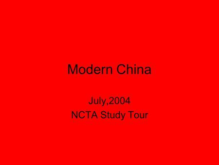 Modern China July,2004 NCTA Study Tour. Aerial view of the Forbidden City.