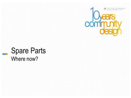 Spare Parts Where now?. António Andrade Chair, ECTA ' s Design Committee Vieira de Almeida & Associados Krystian Maciaszek Trademark and Patent Attorney.