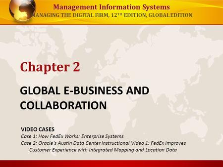 GLOBAL E-BUSINESS AND COLLABORATION