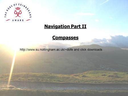 Navigation Part II Compasses