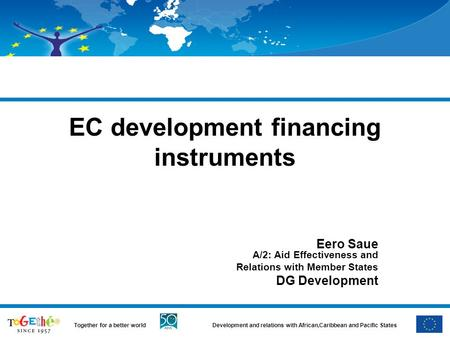 EC development financing instruments