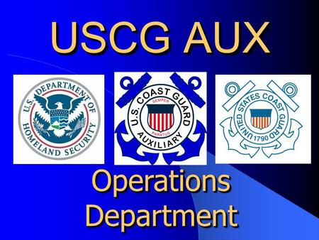 USCG AUX Operations Department. Ditching, Water Survival and Why You May Need A New ELT Robert T. Shafer, Operations (Response) Department - Deputy Chief.