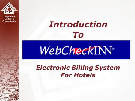 1 Introduction To Electronic Billing System For Hotels.