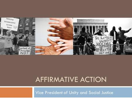 Affirmative action social policy