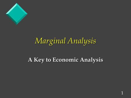 A Key to Economic Analysis