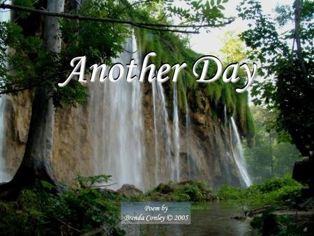 Another Day Poem by Brenda Conley © 2005 Show by Cindy l.com.
