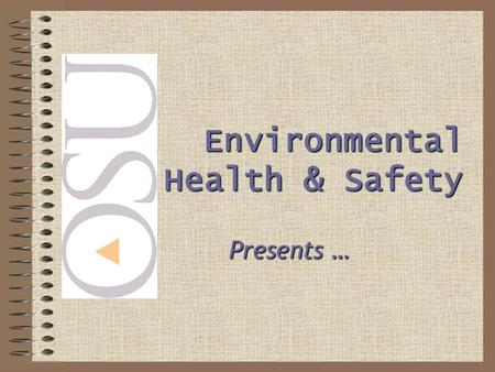 Presents … Environmental Health & Safety. BACK SAFETY Or … How to prevent a lifetime of back problems.