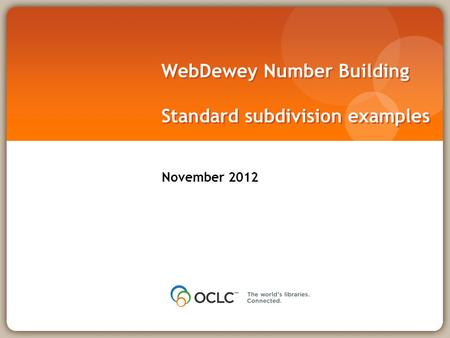 WebDewey Number Building Standard subdivision examples November 2012.