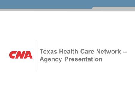 Texas Health Care Network – Agency Presentation. 2 What's New Texas House Bill 7 (HB-7) Health Care Networks Coventry Workers' Comp Network Out of Network.