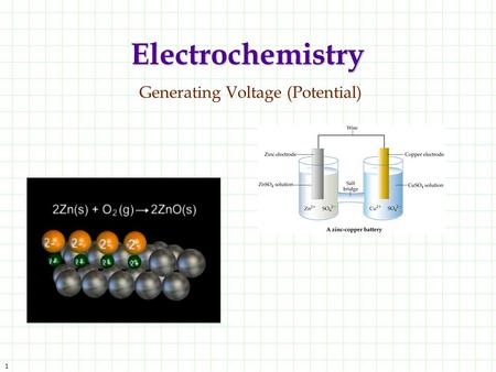 Electrochemistry Generating Voltage (Potential)