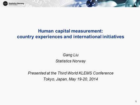 Presented at the Third World KLEMS Conference