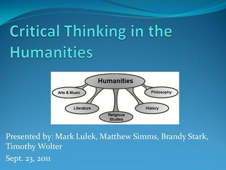 Assessing for Critical Thinking Narrowing the Gulf Conference     QEP Resources