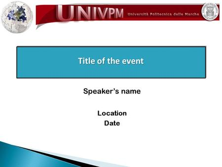 Title of the event Location Date Speaker's name. The University offers undergraduate and graduate degrees as well as PhD Courses in Agriculture, Engineering,