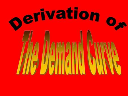 Preview of 4 Coming Attractions Today: Derivation of the Demand Curve –Consumers (Buyers) Next: Derivation of the Supply Curve –Firms (Sellers) Later: