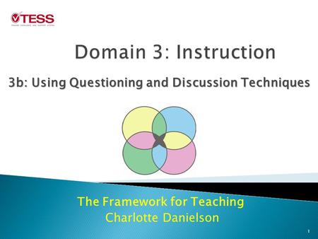 The Framework for Teaching Charlotte Danielson 3b: Using Questioning and Discussion Techniques 1.