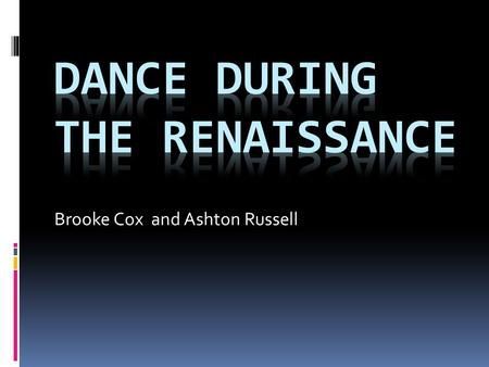 Brooke Cox and Ashton Russell. Rent Parties  Rent parties are an admission charge helped hosts to pay their rents 