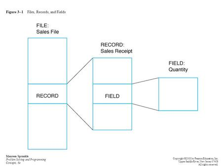 Figure 3--1 Files, Records, and Fields