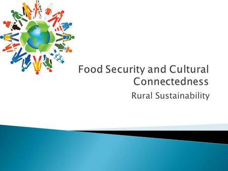 Rural Sustainability.  1. Introduction  2. Food Security and Sustainability  3. Food Systems in Rural Communities  4. Culture, Food Security, and.