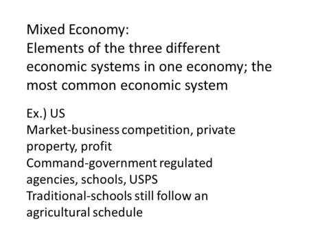 the different aspects of the american market economy An assessment of the different aspects of economics earlier ii used to be called as political economy a market leading independent academic support company.