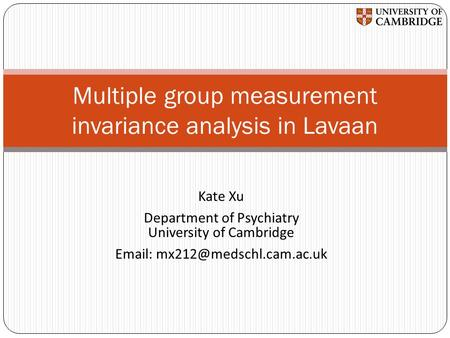 Multiple group measurement invariance analysis in Lavaan