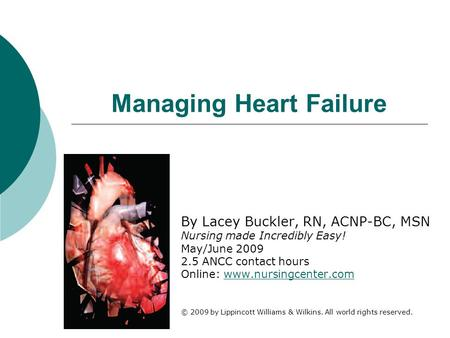 Managing Heart Failure