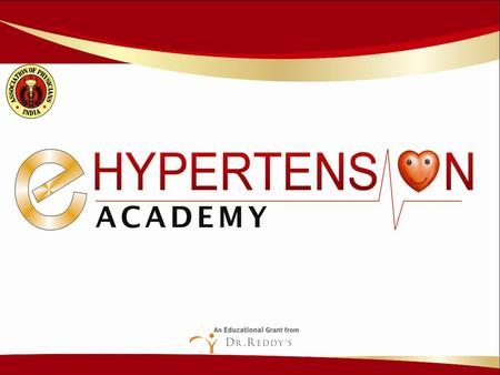 MODULE 3 CHAPTER 1A E-Hypertension Academy CARDIOVASCULAR CHANGES IN HYPERTENSION.