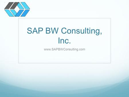 SAP BW Consulting, Inc. www.SAPBWConsulting.com. About Us Founded in 2008 Profitable since Day 1 11 full time Employees 5000+ Website Visitors per Month.