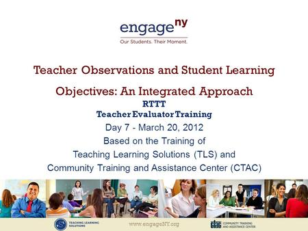 RTTT Teacher Evaluator Training