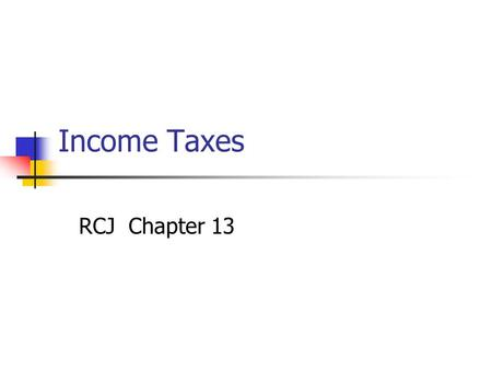 Accounting Income Vs Taxable Income