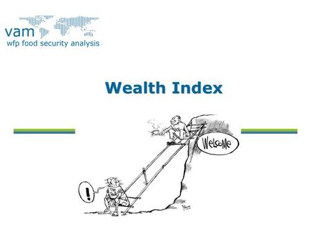 Wealth Index. Objectives To define the wealth index To explain how to identify the appropriate variables to include in the wealth index To present how.