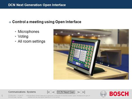 DCN Next Generation Open Interface
